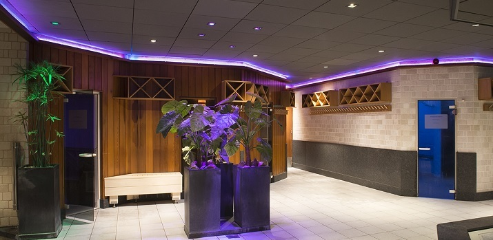 led verlichting voor wellness sauna beautycentrum thermen barendrecht